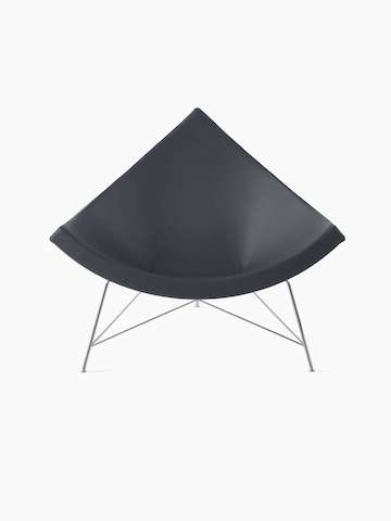 Black Nelson Coconut Lounge Chair.