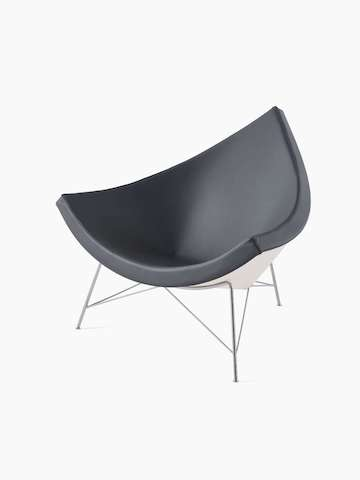 Black Nelson Coconut Lounge Chair. Select to go to the Nelson Coconut Lounge Chair product page.