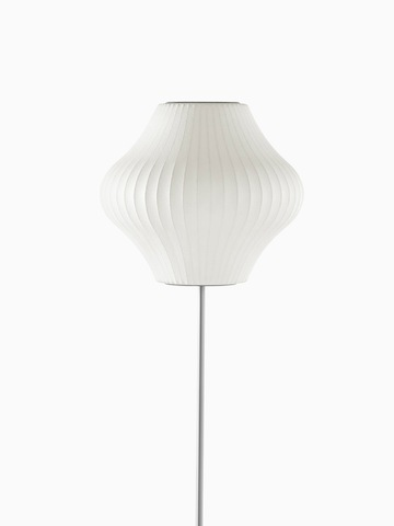A white floor lamp.
