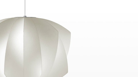Close view of the Nelson Propeller Bubble Pendant lamp.