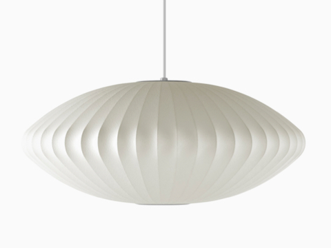 A Nelson Saucer Bubble white pendant lamp.