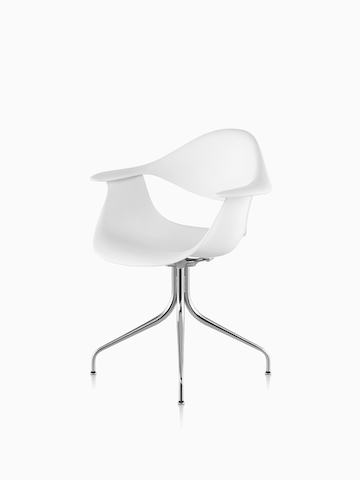 White Nelson Swag Leg Armchair. Select to go to the Nelson Swag Leg Armchair product page.