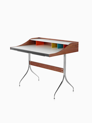 A Nelson Swag Leg Desk. Select to go to the Nelson Swag Leg Desk and Tables product page.