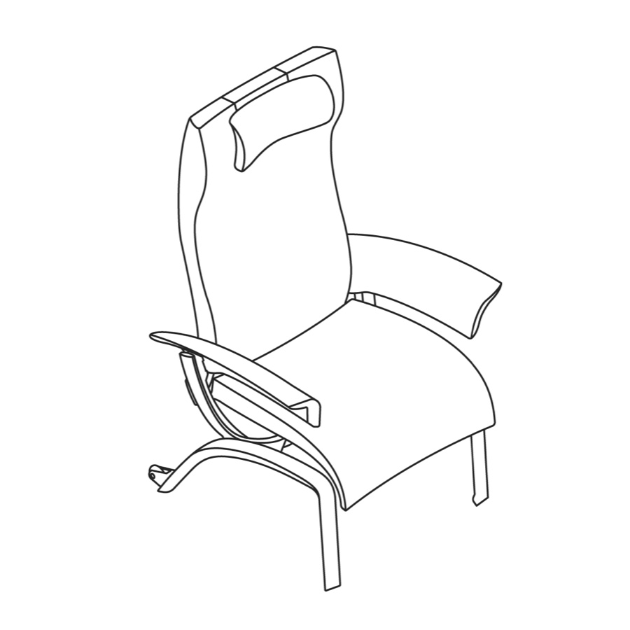 A line drawing of Nala Patient Chair