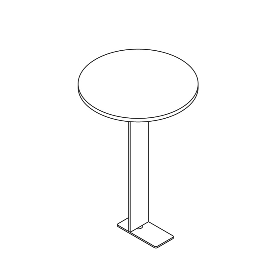A line drawing of Steps Tablet Table