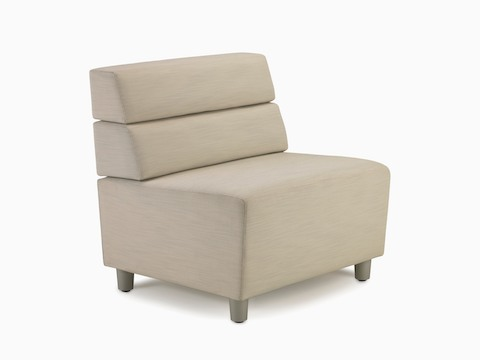 A mid-back Steps Lounge System straight seat in a light-colored textile.