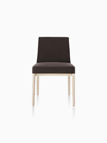 Black Nessel Chair without arms, viewed from the front.