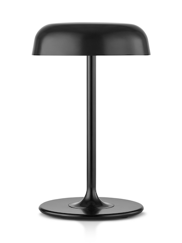 A black Ode table lamp.