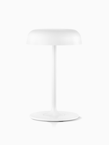 A white Ode table lamp.