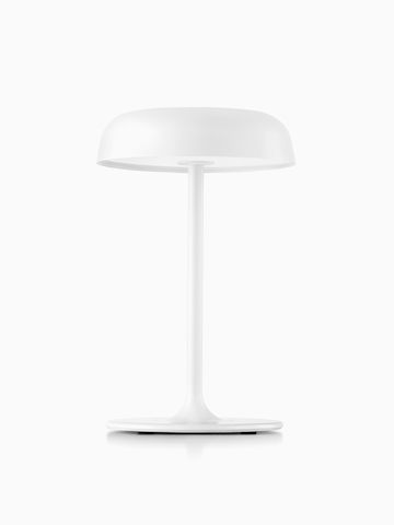 A white Ode table lamp. Select to go to the Ode Lamps product page.