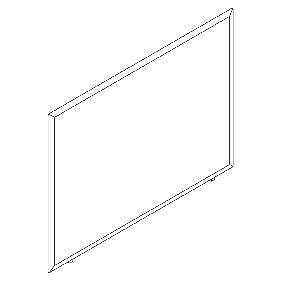 A line drawing of a Pari Freestanding Screen.