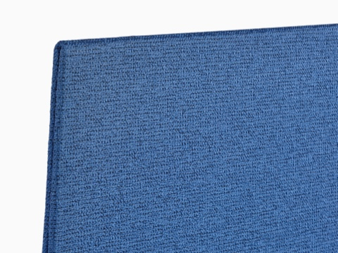 Close-up view of the fabric on a blue Personal Side Screen.
