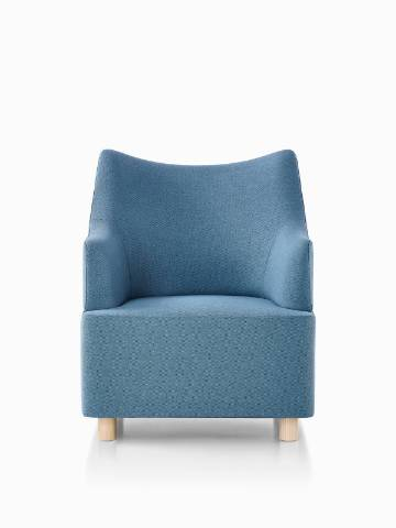 Blue Plex club chair.