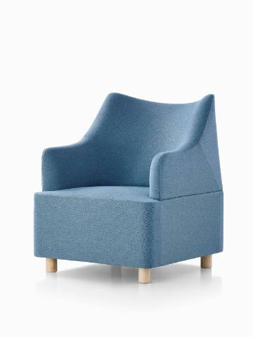 Blue Plex club chair. Select to go to the Plex Lounge Furniture product page.