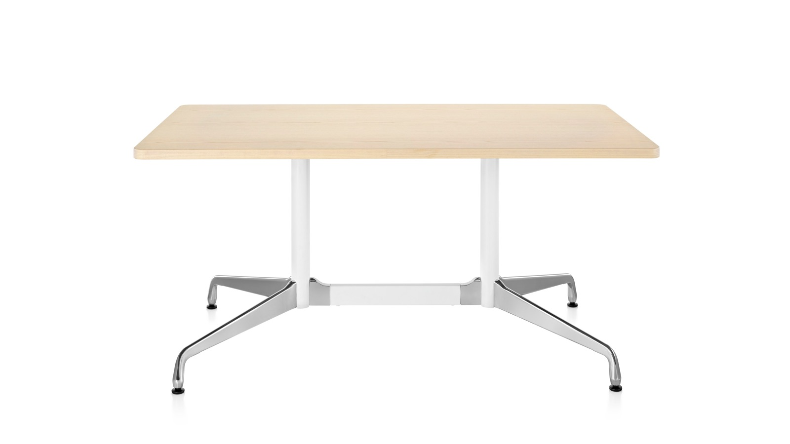 White sweep image of an Eames Conference Table with rectangular top.