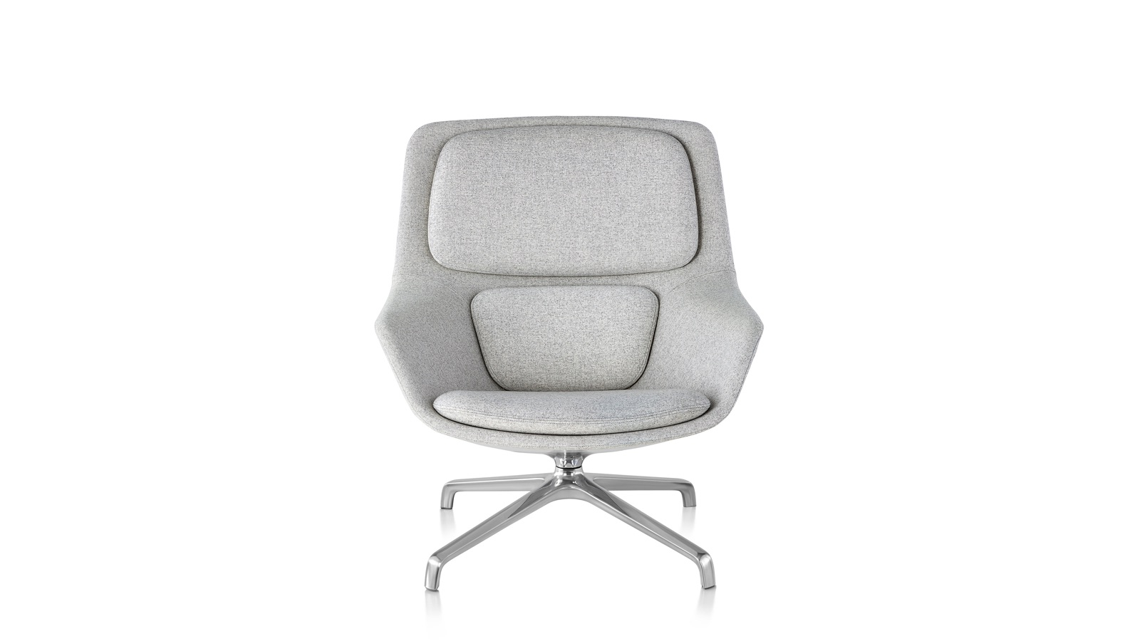 White sweep image of a Striad Lounge Chair.