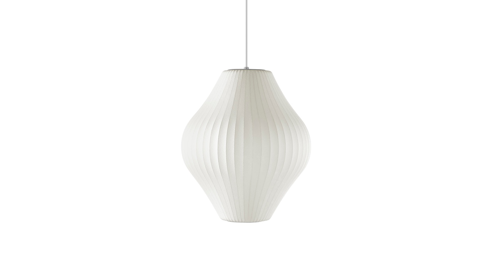 White sweep image of a Nelson Pear Crisscross Bubble Pendant.