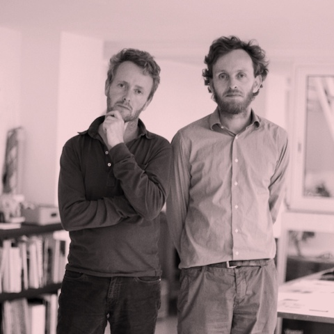 A portrait of Ronan and Erwan Bouroullec, designers of the Magis Steelwood family of furniture.