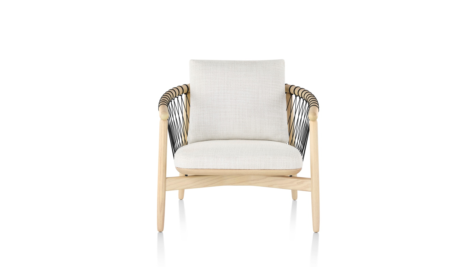 White sweep image of a Crosshatch Lounge Chair.