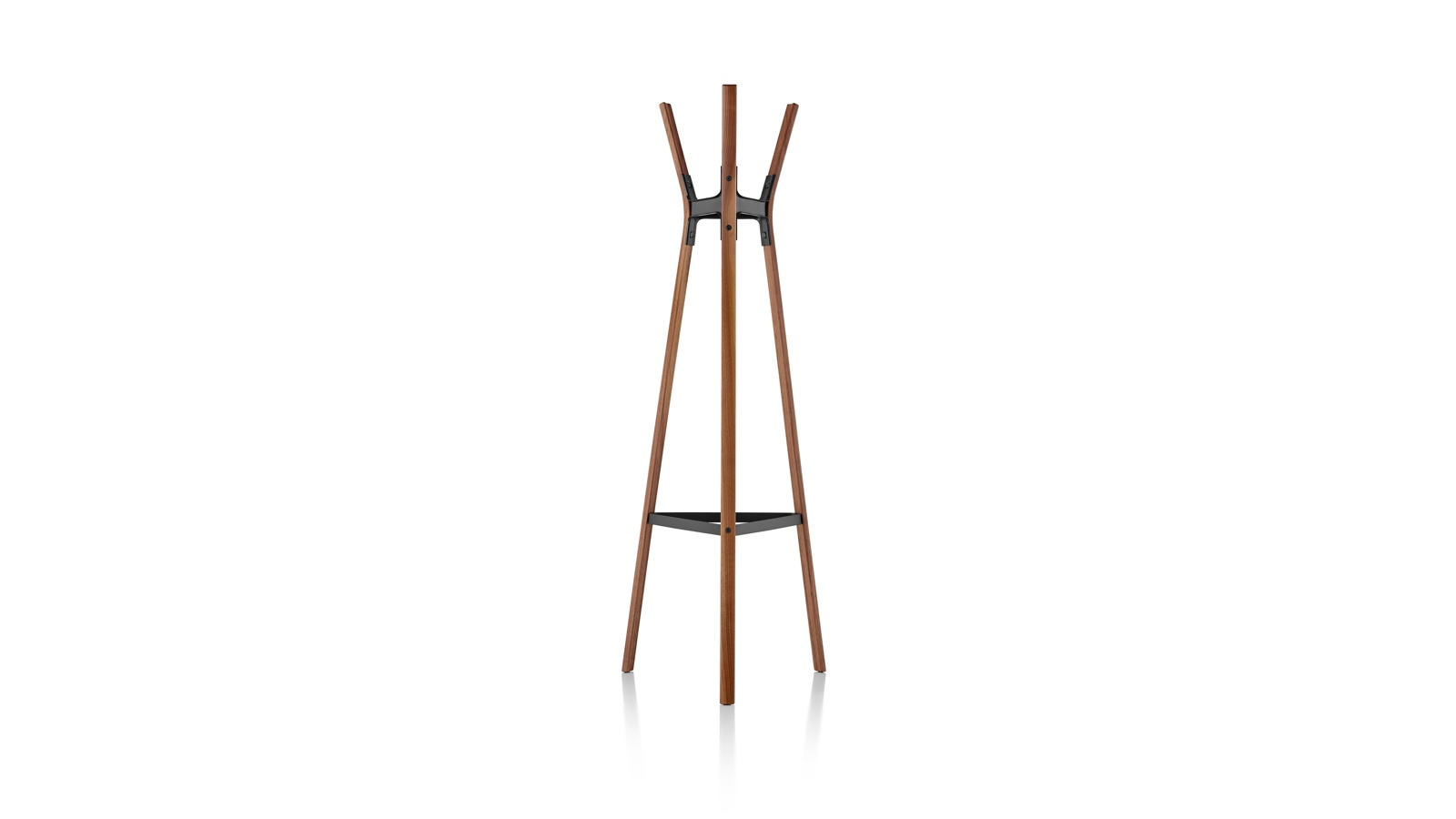 White sweep image of a Magis Steelwood Coat Stand.