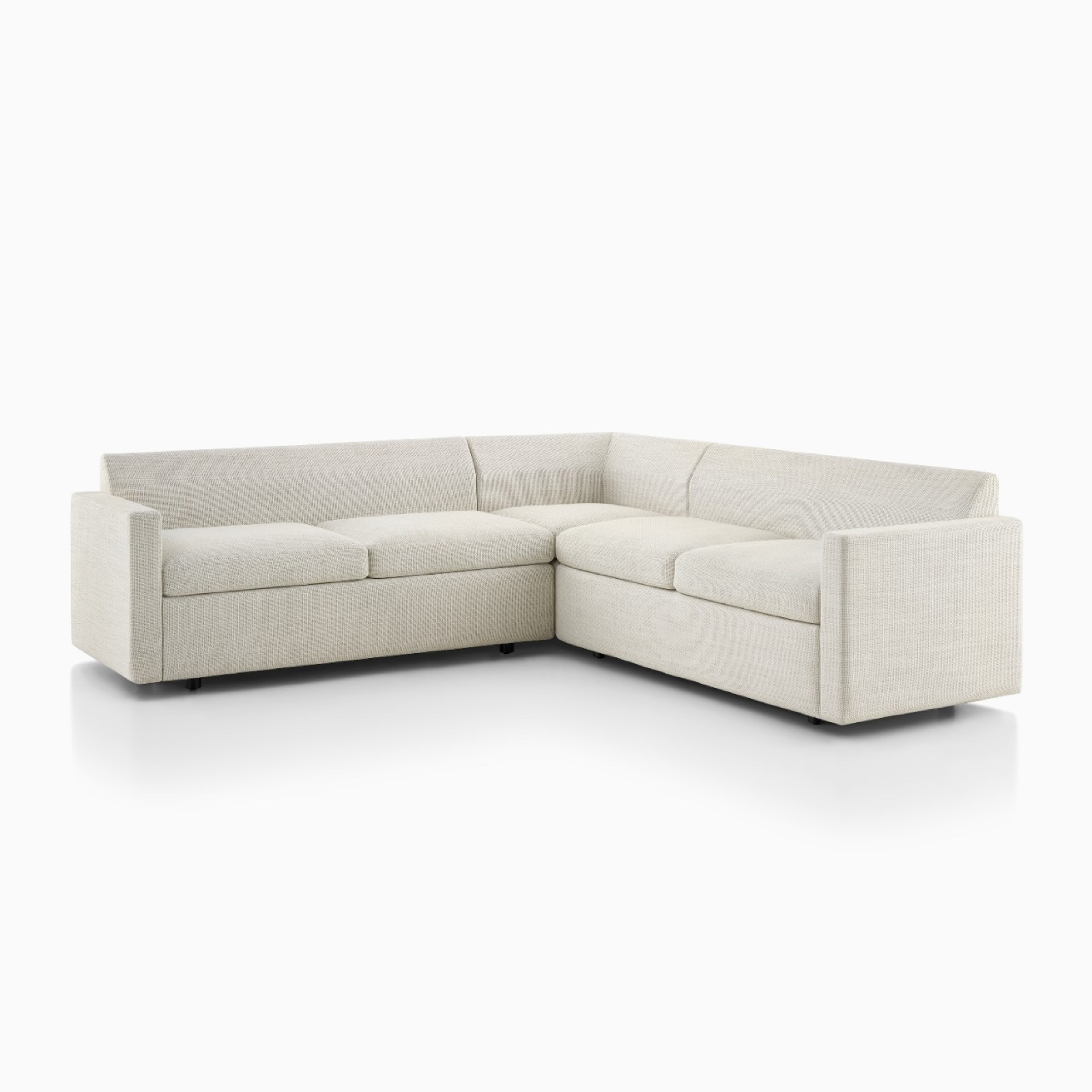 A Bevel Sectional in Capri Stone.
