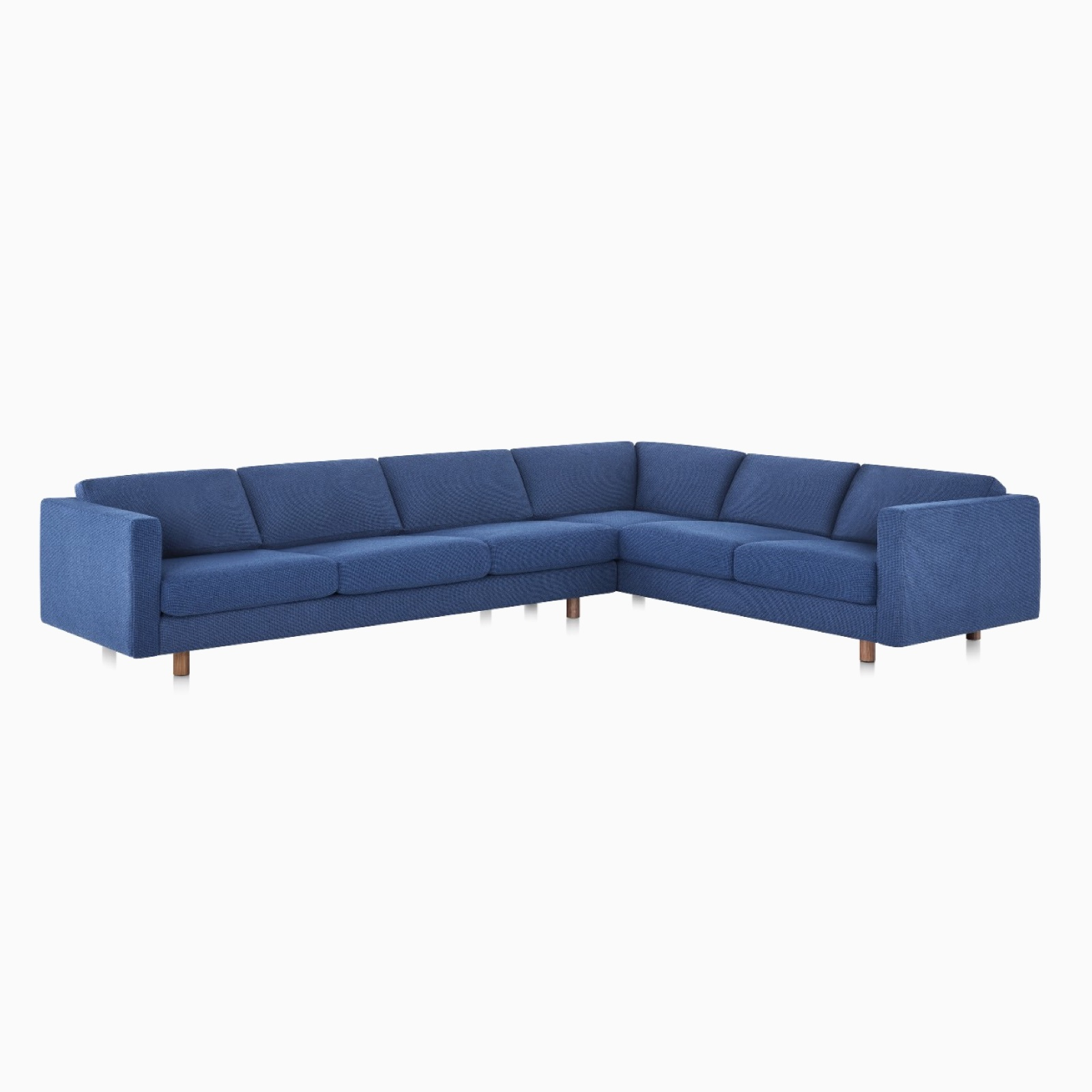 A Lispendard Sectional Sofa in Superweave Marine.