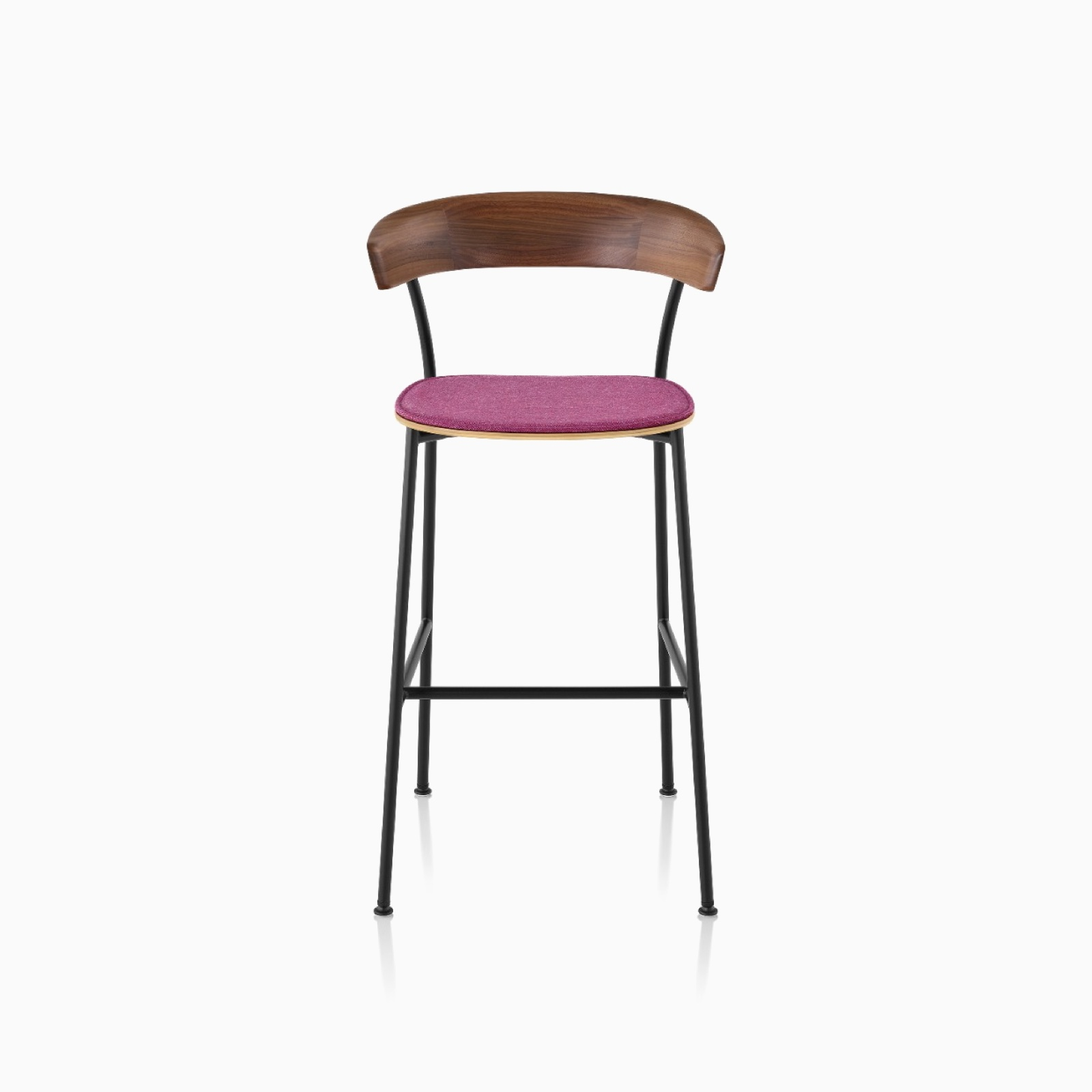 A bar height Leeway Stool with a Bellano Magenta seat cushion.