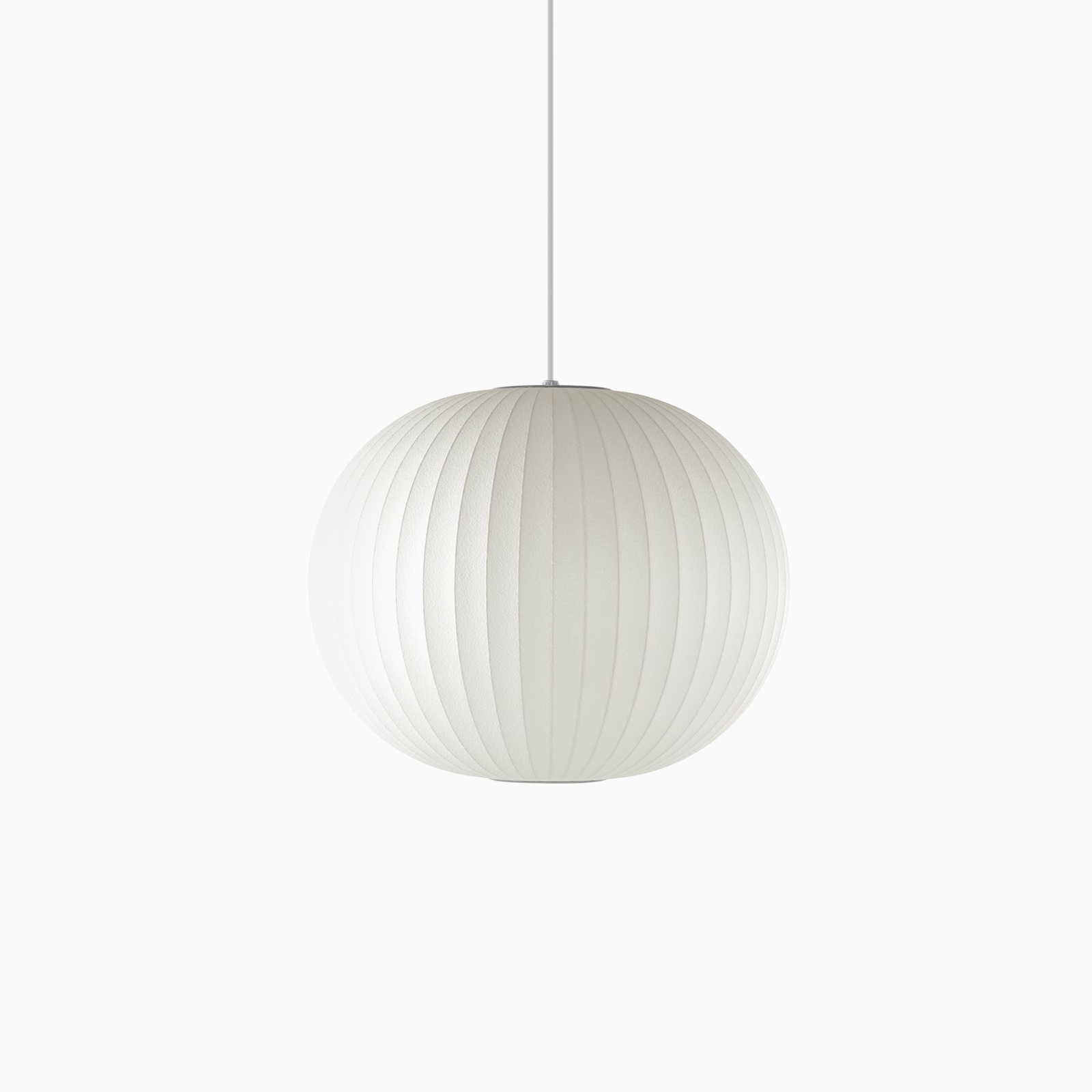 White sweep image of a Nelson Ball Bubble Pendant.