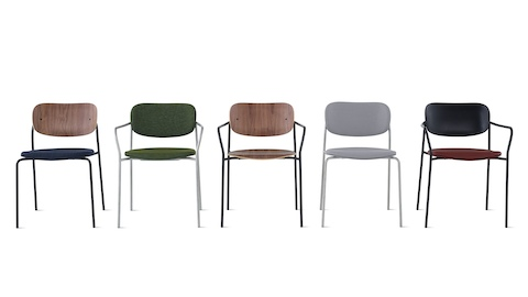 Group image of Portrait Chairs with multiple seat and frame finishes.