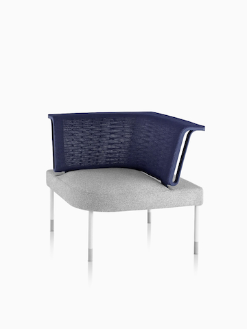 Gray and blue Public Office Landscape seating component. Select to go to the Public Office Landscape product page.