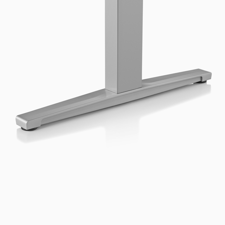 Close-up of Renew Sit-to-Stand Table's T-foot.