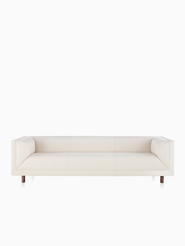 White Rolled Arm Sofa.