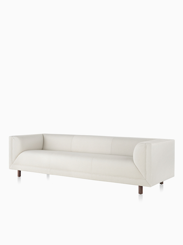 White Rolled Arm Sofa. Select to go to the Rolled Arm Sofa Group product page.