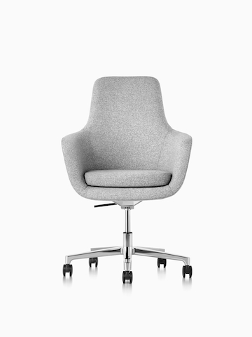 Light gray Saiba office chair.