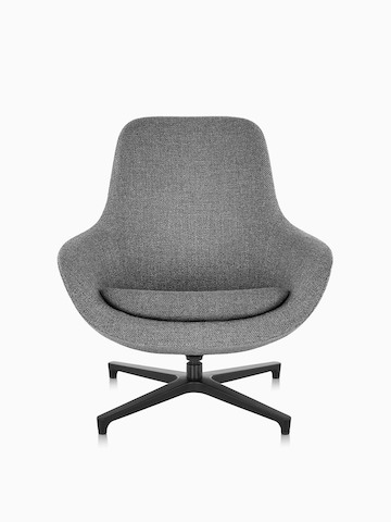 Gray Saiba Lounge Chair, viewed from the front.