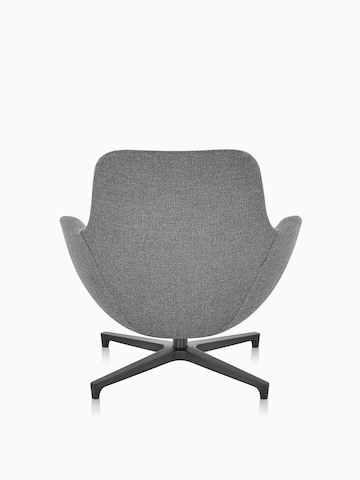 Gray Saiba Lounge Chair, viewed from the rear.