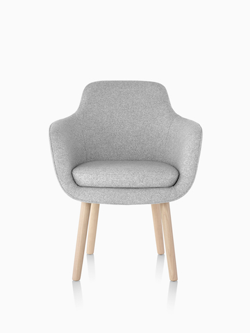 Light gray Saiba Side Chair.