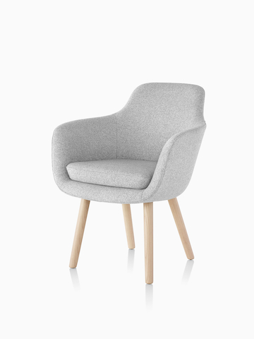 Light gray Saiba Side Chair. Select to go to the Saiba Side Chair product page.