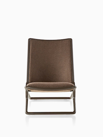 Brown Scissor Chair.