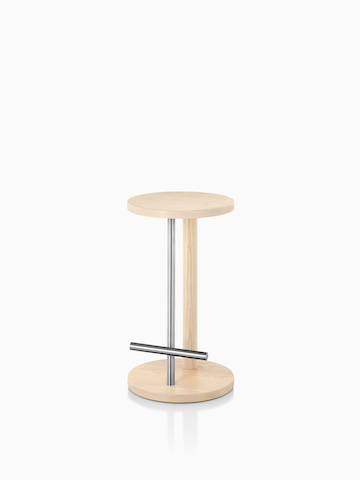 Spot Stool with a light wood finish. Select to go to the Spot Stools product page.