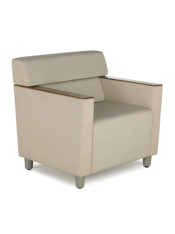 A beige Steps Lounge System armchair, viewed from a 45-degree angle.