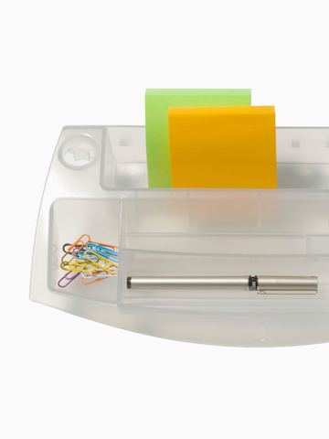 A tray for storing small items. Select to go to the Storage Tray product page.