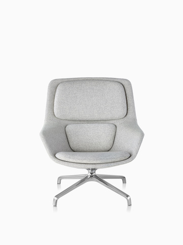 Gray Striad Lounge Chair.