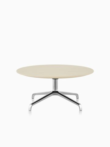 Striad occasional table with ash veneer and 4-star base.