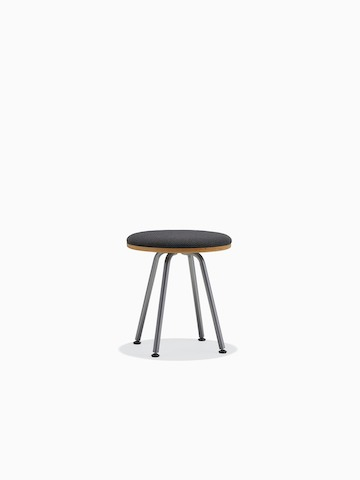 Cushion-top Swoop stool.