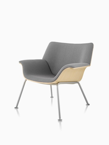 A gray Swoop Plywood Lounge Chair. Select to go to the Swoop Lounge Furniture product page.