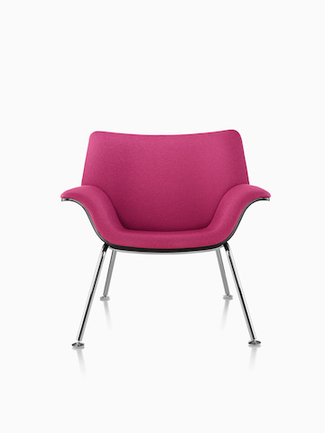 Magenta Swoop lounge chair.
