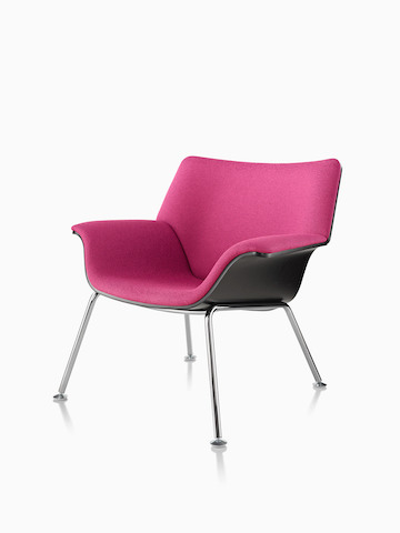 Magenta Swoop lounge chair. Select to go to the Swoop Lounge Furniture product page.