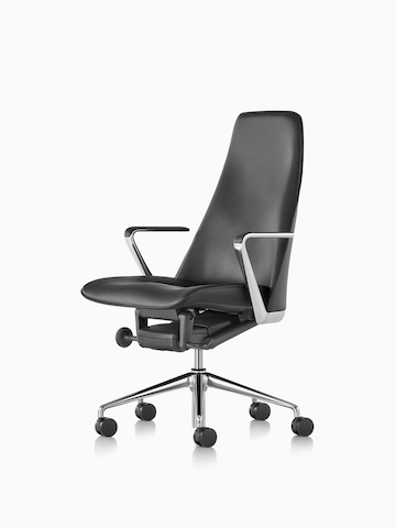 Black Taper office chair. Select to go to the Taper Chair product page.