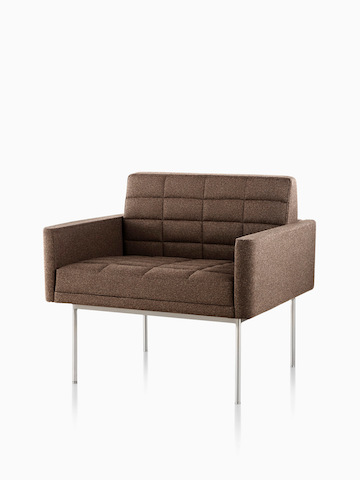 Brown Tuxedo lounge chair. Select to go to the Tuxedo Lounge Seating product page.